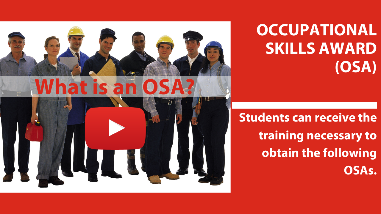 Occupational Skill Awards(OSA) & Certifications