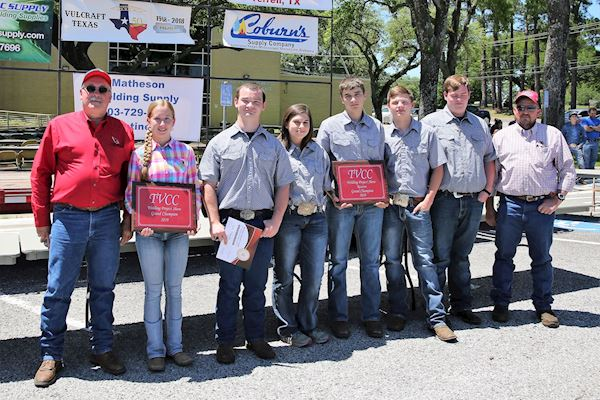 TVCC Welding Instructor Tom Sheram, Victoria Smith, John Feemster, Kassandra Clary, Richard Clary, Weston Beckman, Colby Glenn, and TVCC Wel